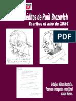 POESÍA INÉDITA DE RAÚL BROZOVICH.