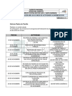 Cronograma Proceso Final de Recuperaciones y Finalizacion Año 2018
