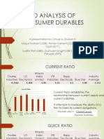 ratio analysis of consumer durables