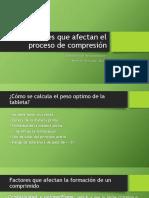 Factores que afectan el proceso de compresión