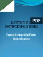 EL CONTRATO en LA CONSTRUCCIÓN de LOS TÚNELES.
