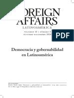 Democracia y gobernabilidad en Latinoamérica