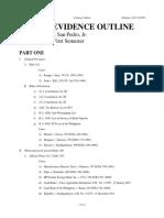 Evidence - Outline San Pedro