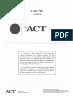 ACT Form 71H (April 2014)