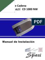 Manual Spazi CD 1000