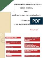 Curso de Didactica de La Educacion Basica - Modalidad a Distancia (Virtual)