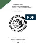 Mini Research Report Formulatrix Semarang