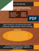 Green Technology for Maritime Development Okta
