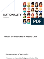 NATIONALITY and Domicile