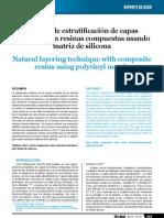 Estratificación con matriz de silicona