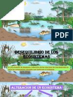 Desequilibrio de Los Ecosistemas