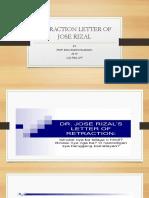 Retraction Letter of Jose Rizal