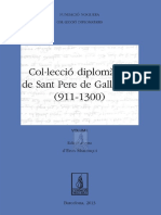 Col·lecció Diplomàtica de Sant Pere de Galligants (911-1300) Vol. I