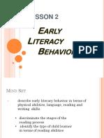 Early Literacy Behavior
