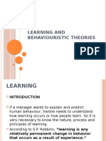 Learning and Behaviouristic Theories