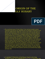 The Origin of the Holy Rosary