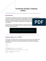 Advanced ANSYS Parametric Design Language (APDL)