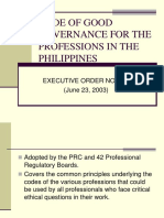 Code of Good Governance for the Professions in 1