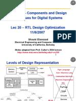 Lec20 Rtl Design