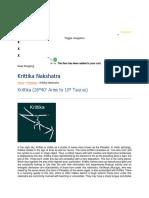 Krittka Characterstics