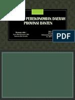 Analisis Perekonomian Daerah Banten
