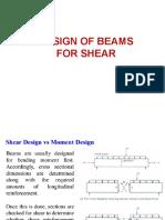 Design of beam shear