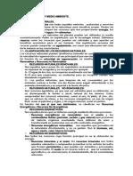 Resumen Tema 5.- Recursos y Medio Ambiente