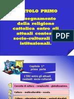 Cap. 1.  Parte prima.ppt dell'insegnamento della religione cattolica