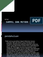 Menjelaskan Sampel Dan Metode Samplingg