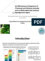 Antihyperglicemic Effectiveness Comparison of Ethanol Extract of Soursop