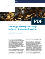Building a Better Partnership Between Finance and Strategy