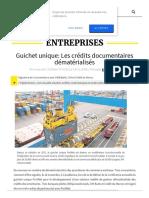 Leconomiste Com Article 1036556 Guichet Unique Les Credits Documentaires Dematerialises