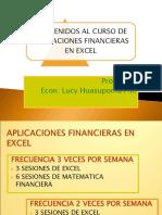 Bienvenidos Al Curso de Aplicaciones Financieras (1)