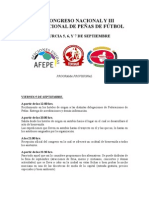 VIII Congrés Nacional de Penyes (Murcia 2008)
