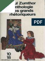 Paul Zumthor Anthologie Des Grands Rhetoriqueurs 1998