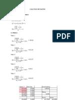 Calculo de Datos Tabla de Datos Calculados