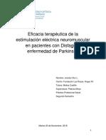 Eficacia Terapéutica de La Estimulación Eléctrica Neuromuscular en Pacientes Con EP y Disfagia