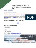 Procedura de Emitere a Avizelor Și Autorizațiilor de Gospodărire a Apelor Din 30.07.1999
