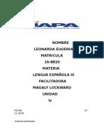 Tarea 4 de Lengua Española