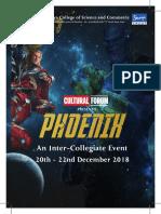Phoenix 2018 - Event Broucher - Event Schedule