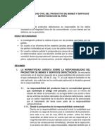 La Responsabilidad Civil Del Productos de Bienes y Servicios Defectuosos en El Peru