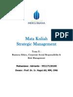 10, SM, Adrianto, Hapzi Ali, Business Ethics, CSR, Risk Management, Universtitas Mercu Buana, 2018