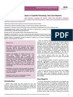 Forensic Toxicological Analysis in Cyanide Poisoning Two Case Reports