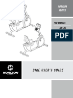 Horizon Fitness RC 30 Recumbent Bike User Manual