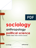 Lesson 3 Anthropology, Political Science and Sociology