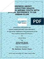Project on Reproductive child health at Urban Slums