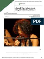Feminismo Decolonial_ Una Ruptura Con La Visión Hegemónica, Eurocéntrica, Racista y Burguesa _ Entrevista a Yuderkys Espinosa Miñoso