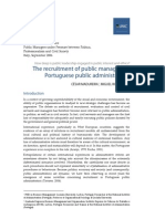 The recruitment of public managers in Portuguese public administration