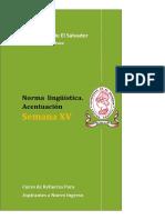 Material Semana 15 de [Lenguaje y Literatura] [Norma Lingüística. Acentuación] Versión PDF (2)