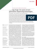 Coming of Age Ten Years of Nextgeneratio